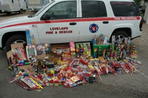 Firework Confiscation Photo