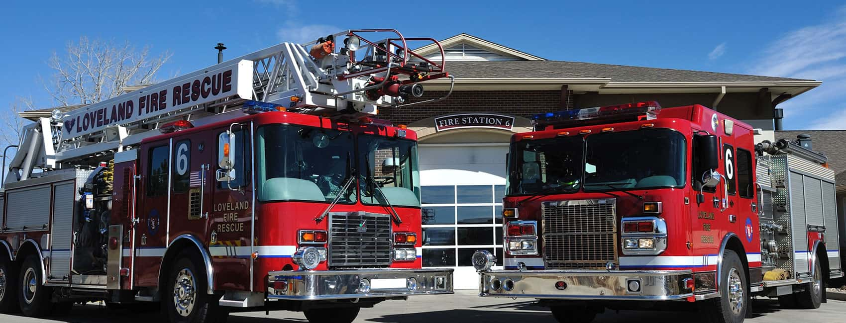 Engines in front of Fire Station 6